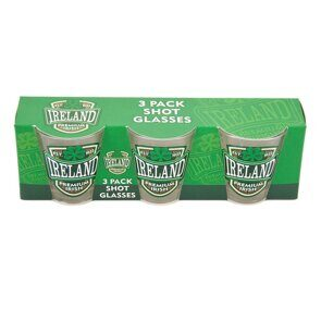 C486 Набор три стопки для виски Three Pack Shot Glasses With Harp, Shamrock And Claddagh Prints ЕВ07C486 Royal Tara, Ирландия