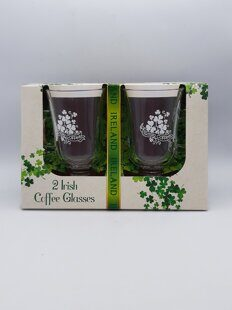 C484 Набор два стакана для Ирландского кофе Two Pack Of Irish Coffee Glasses With Shamrock And Irish Coffee Design ЕВ07C484 Royal Tara, Ирландия