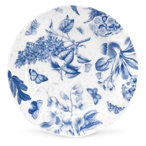 4P134 Набор 4 тарелки 15 см Portmeirion Botanic Blue 6 inch Side Plate set of 4,  England