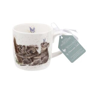 4P106 Кружка Royal Worcester Wrendale Designs Three of a Kind Koalas Fine Bone China Mug, England