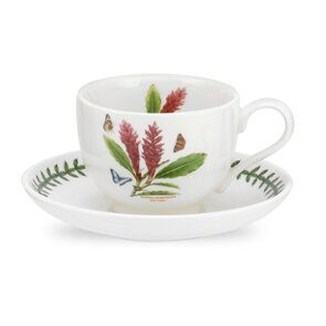 K89 Portmeirion Exotic Botanic Garden Tea Cup and Saucer Red Ginger