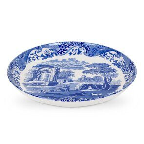 E513 Spode Blue Italian 30cm Pasta Bowl Single, England