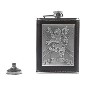 K140  Фляжка HERITAGE OF SCOTLAND HERITAGE OF SCOTLAND LION EMBLEM 8OZ FLASK/FUNNEL BOX SET