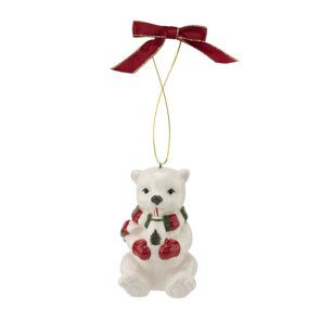 K99 Spode Christmas Tree Figural Polar Bear