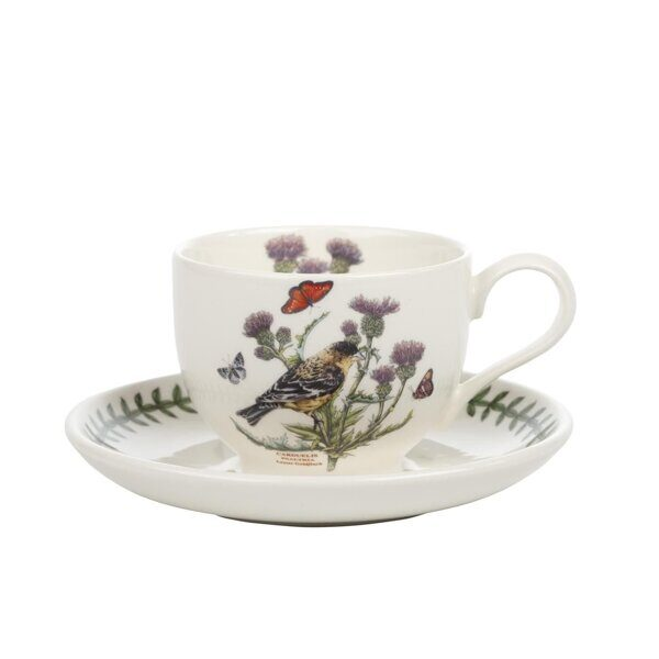 K83  Portmeirion Botanic Garden Birds Cup and Saucer Lesser Goldfinch