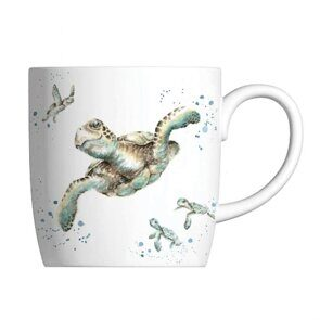 E519 Кружка  Royal Worcester Wrendale Designs Swimming School Turtle Fine Bone China Mug