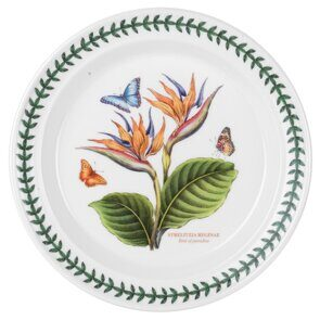 K20 Тарелка большая Exotic Botanic Garden Dinner Plate 10 inch Bird Of Paradise, 26 см,  Portmeirion, England
