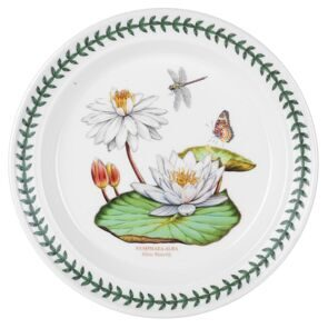 C301 Большая тарелка Portmeirion Exotic Botanic Garden Dinner Plate White Waterlily, 26.5 см,  Portmeirion, England