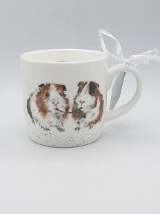 4P78 Кружка Royal Worcester Wrendale Designs Lettuce Be Friends Guinea Pig Fine Bone China Mug,  Royal Worcester, England