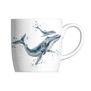 E521 Кружка  Royal Worcester Wrendale Designs Marine Blue Whale Fine Bone China Mug